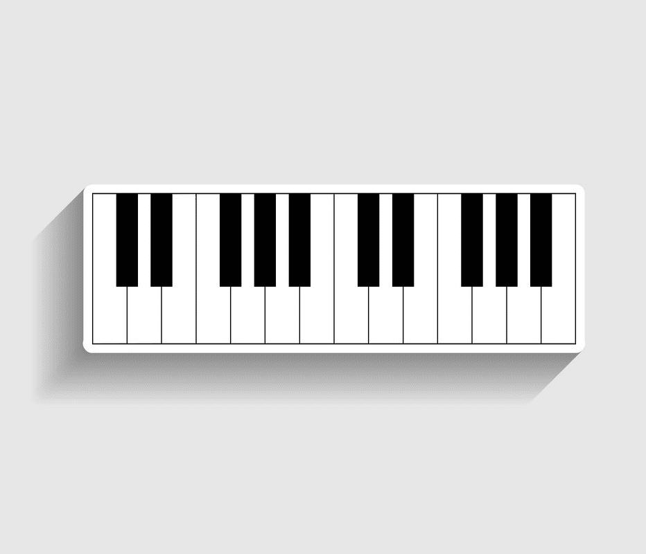 Piano Keyboard clipart image