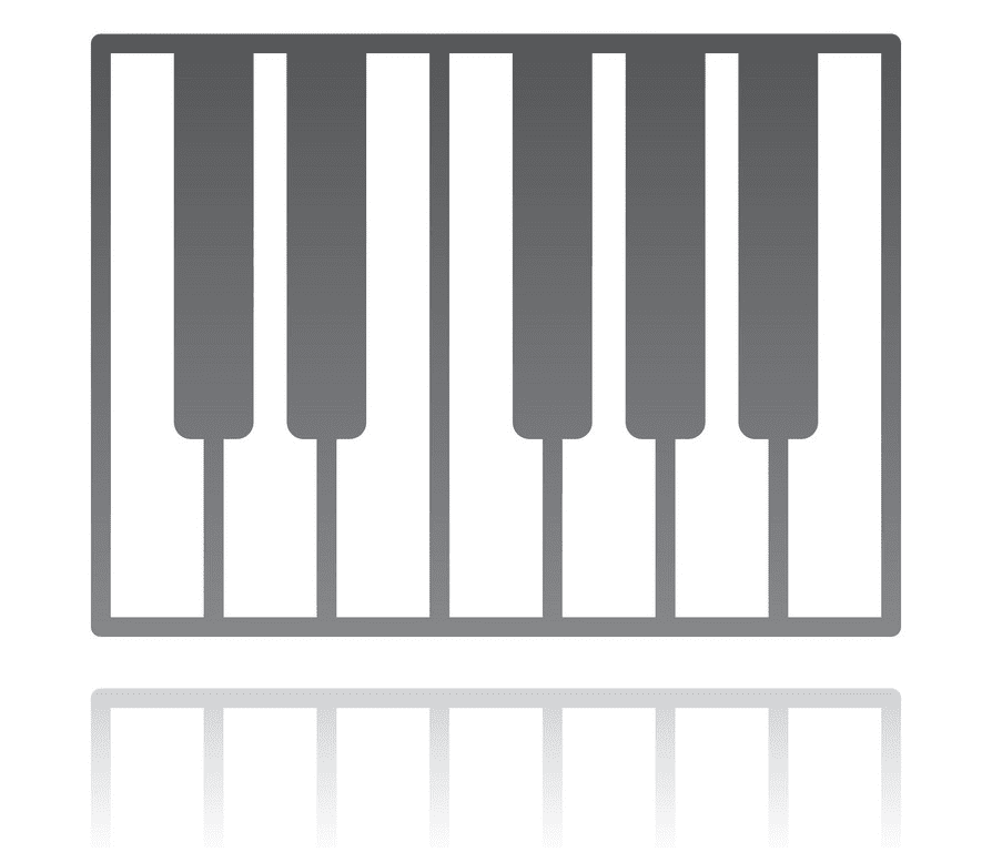 Piano Keyboard clipart png images