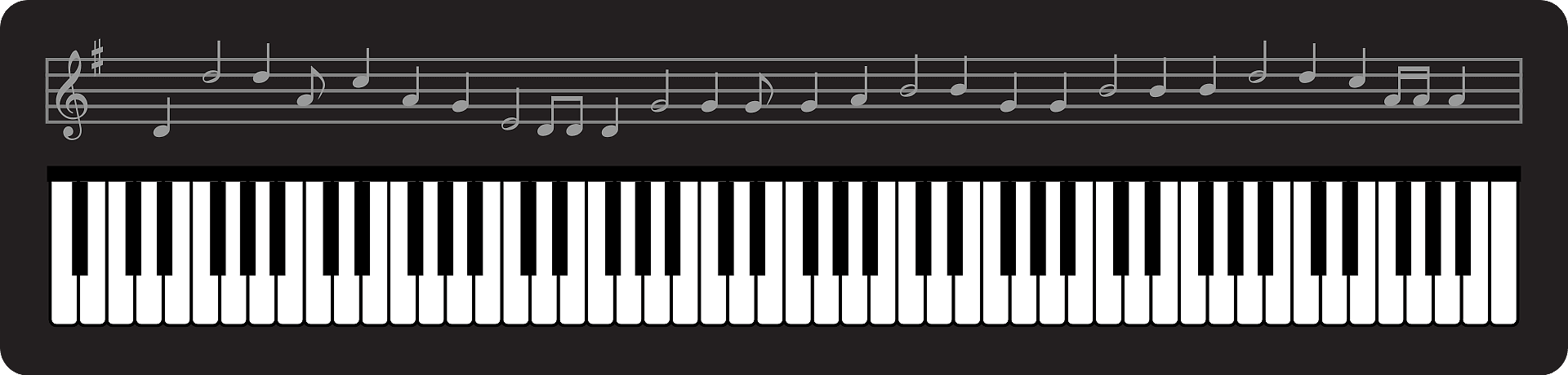 Piano Keyboard clipart transparent 1