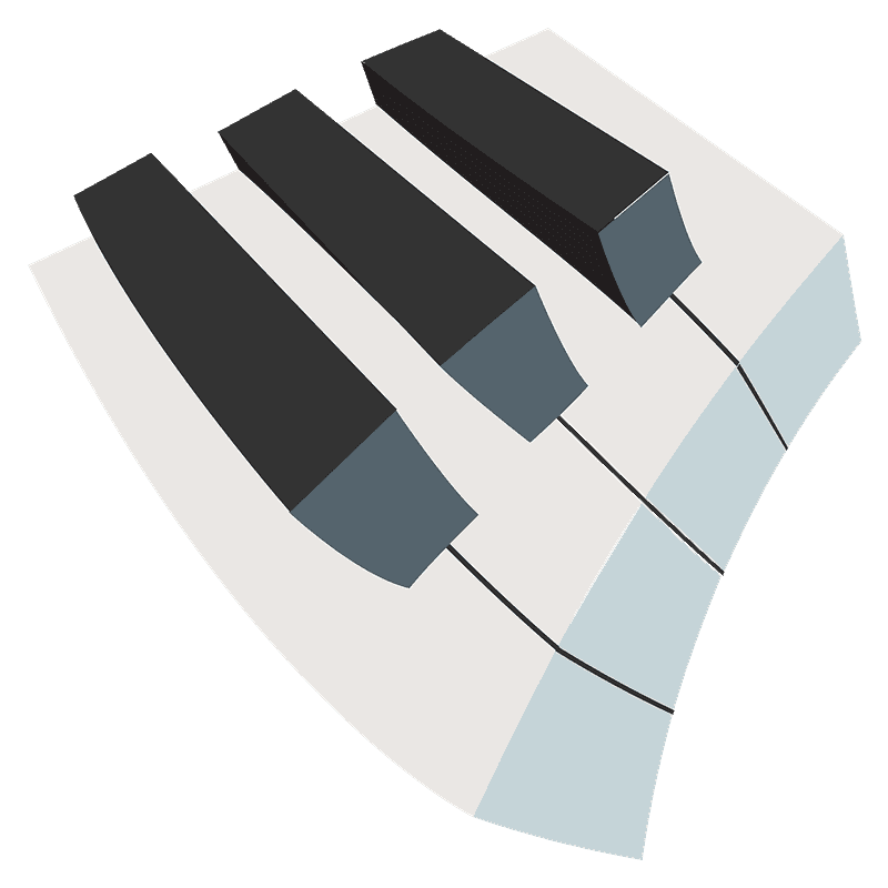 Piano Keyboard clipart transparent 3