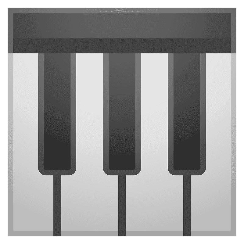 Piano Keyboard clipart transparent 9