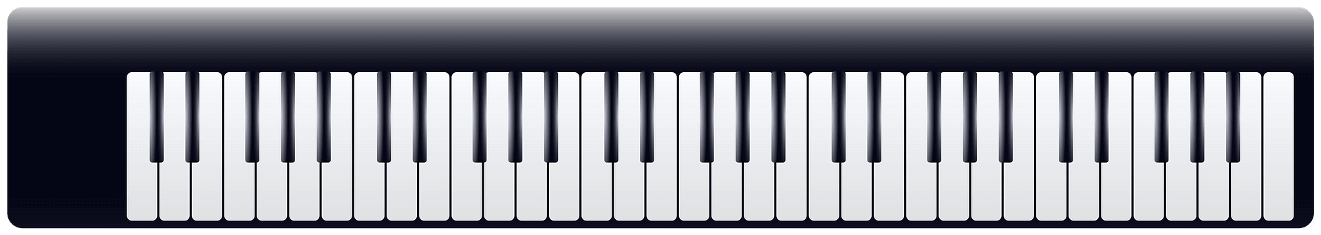Piano Keyboard clipart transparent