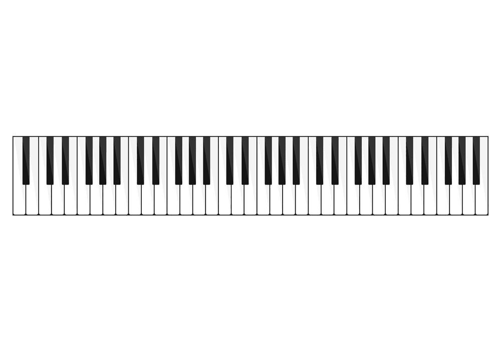 Piano Keyboard clipart