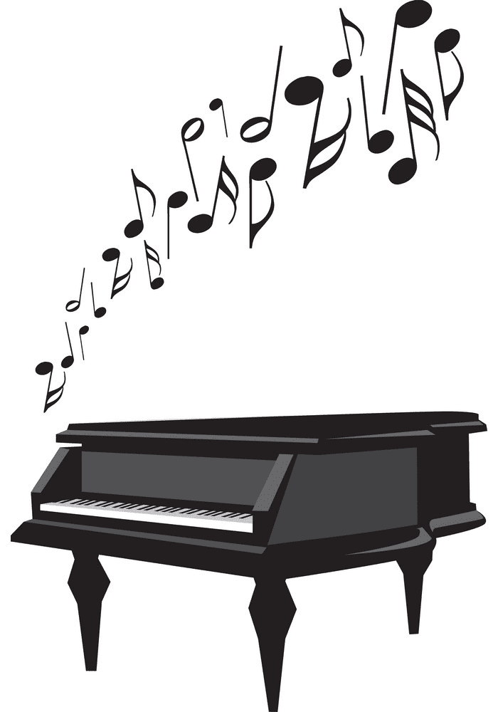 Piano clipart for free