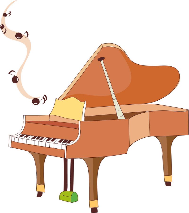 Piano clipart free