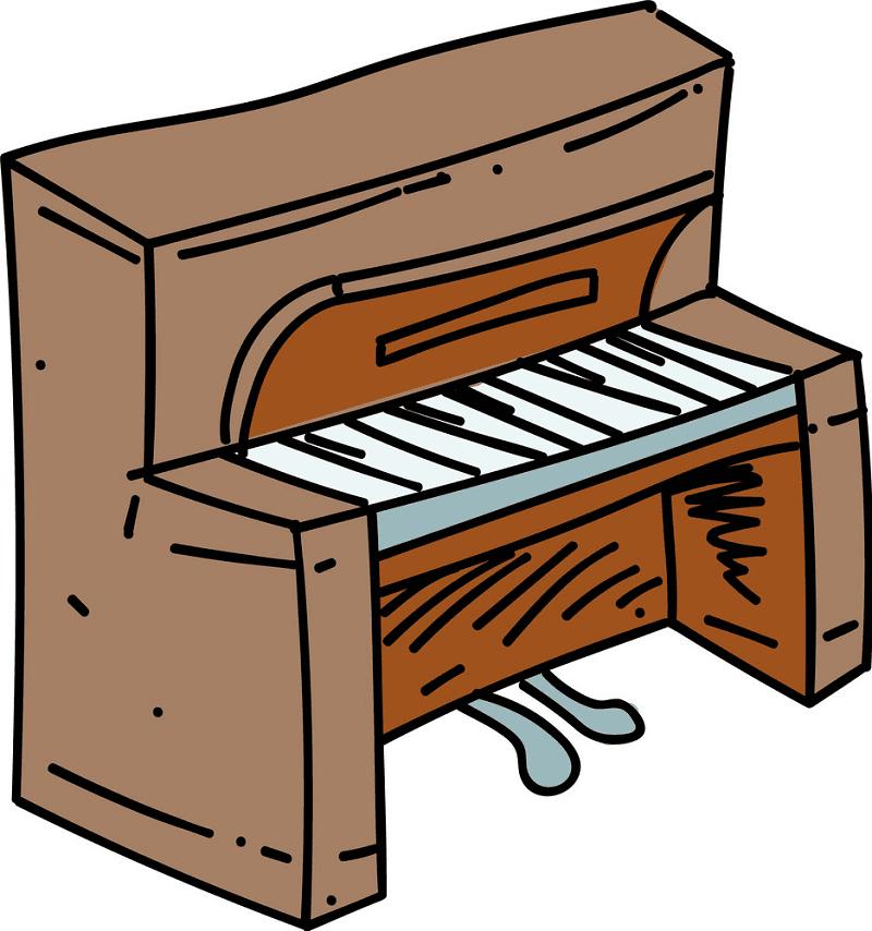 Piano clipart picture