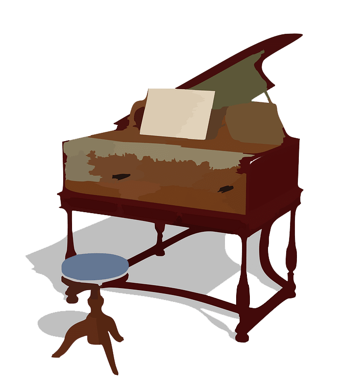 Piano clipart transparent 1