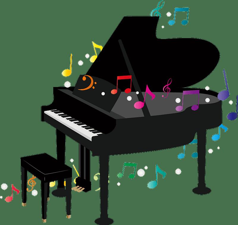 Piano clipart transparent 10