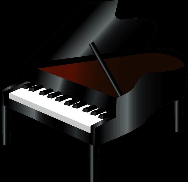 Piano clipart transparent 3