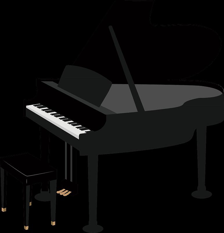 Piano clipart transparent 4