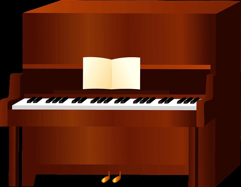 Piano clipart transparent 6