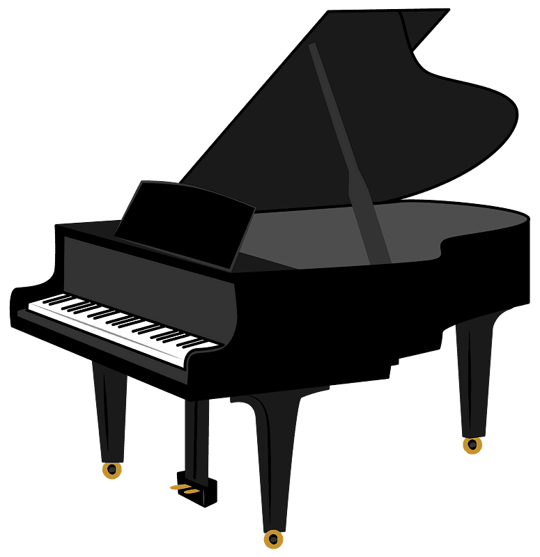 Piano clipart transparent 7