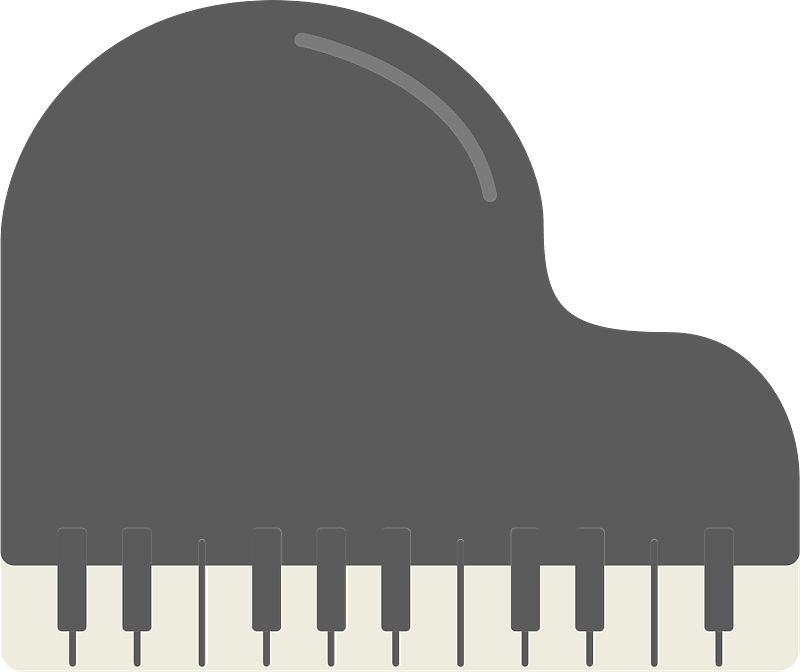 Piano clipart transparent for free