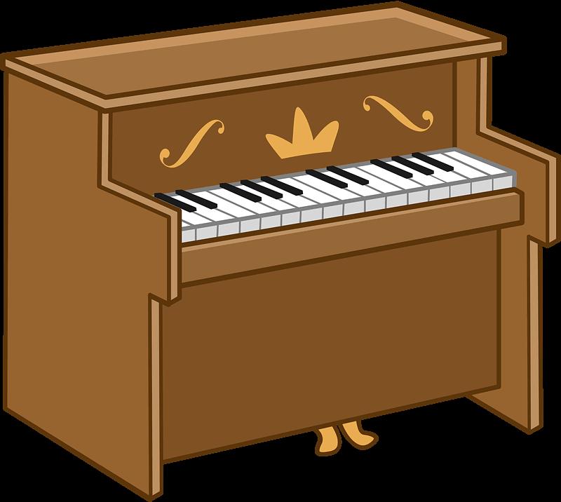 Piano clipart transparent free
