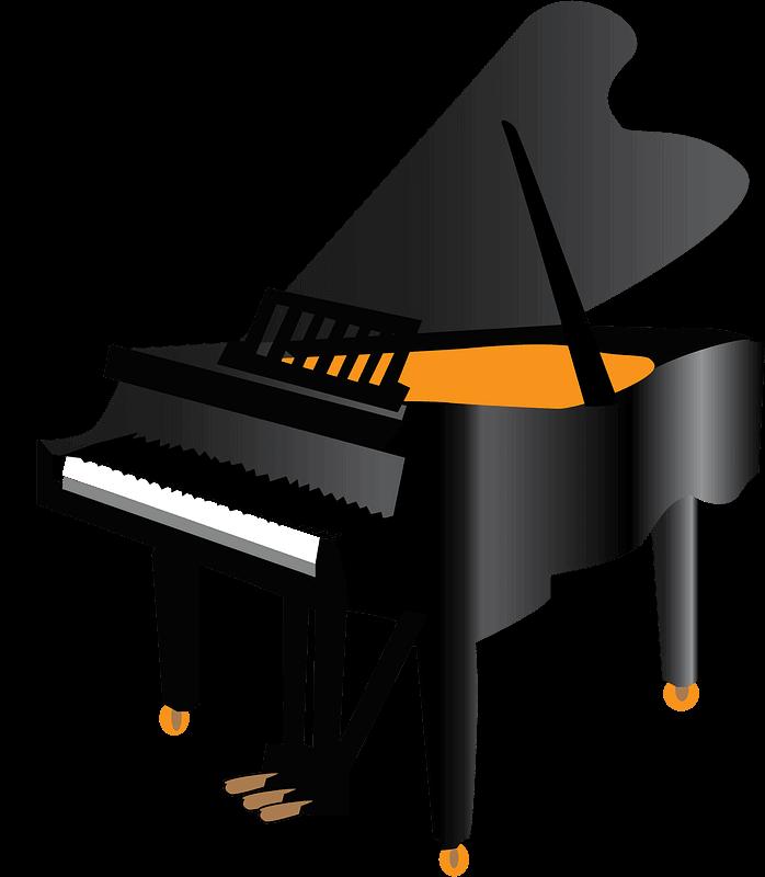 Piano clipart transparent images