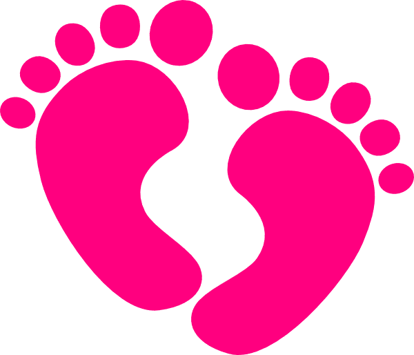 Pink Baby Feet clipart images