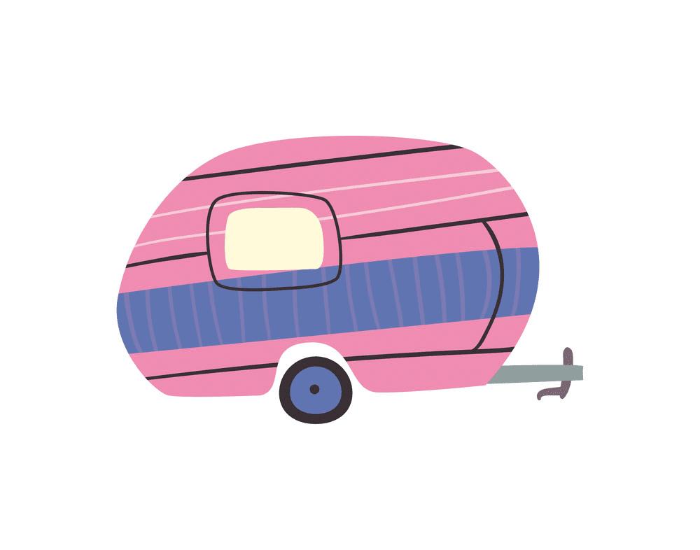 Pink Camper Trailer clipart