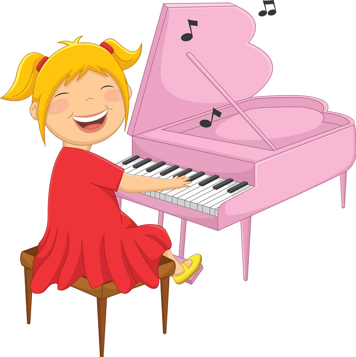 Playing Piano clipart for free