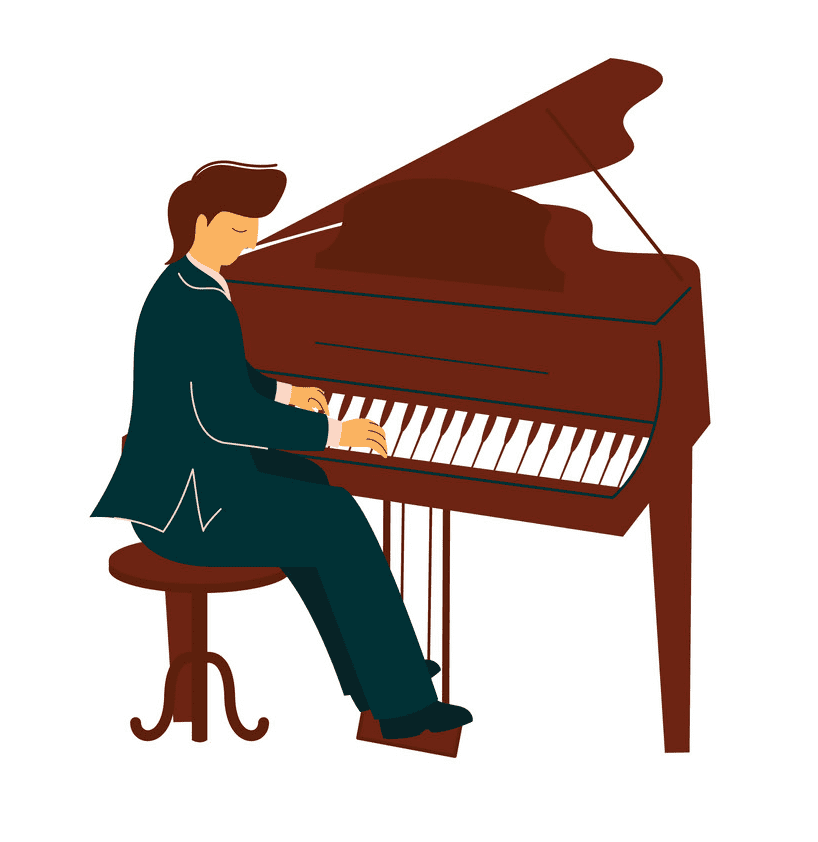 Playing Piano clipart free image