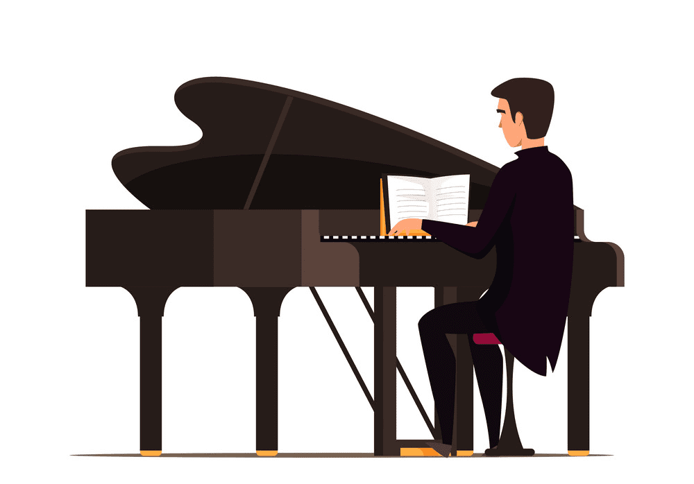 Playing Piano clipart free images