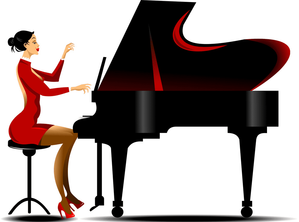 Playing Piano clipart image