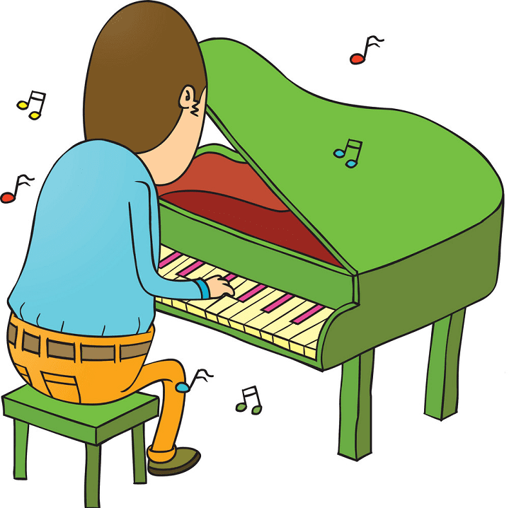 Playing Piano clipart images
