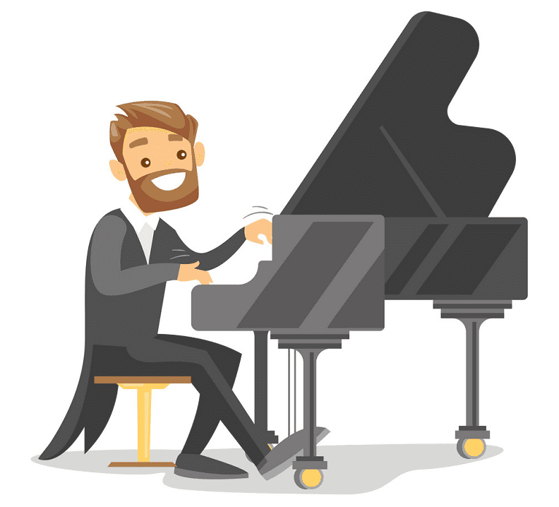 Playing Piano clipart png image