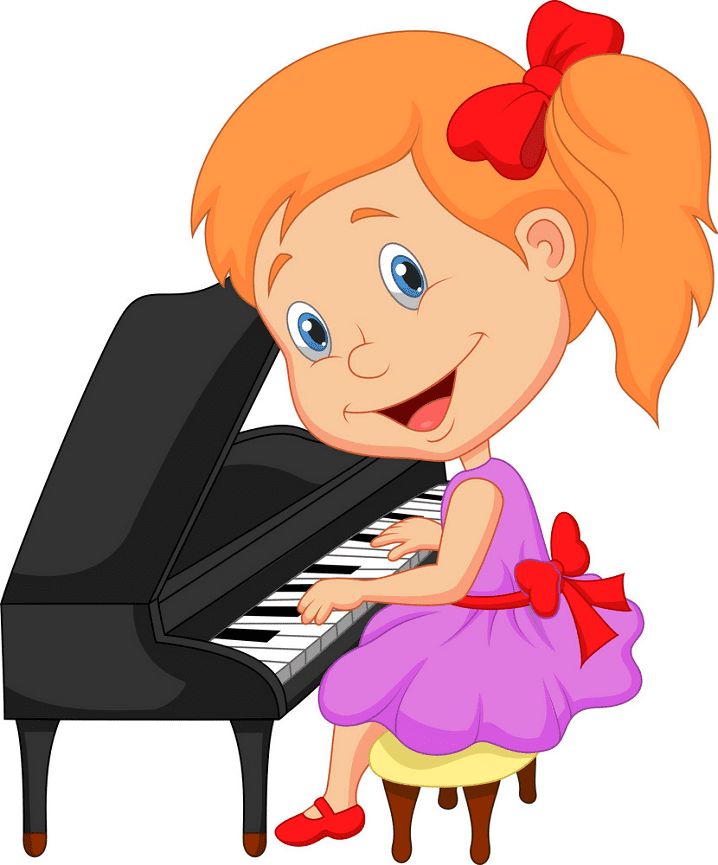 Playing Piano clipart png