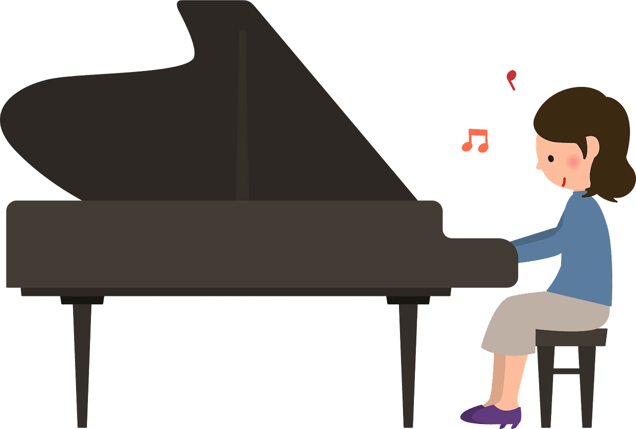 Playing Piano clipart transparent 1