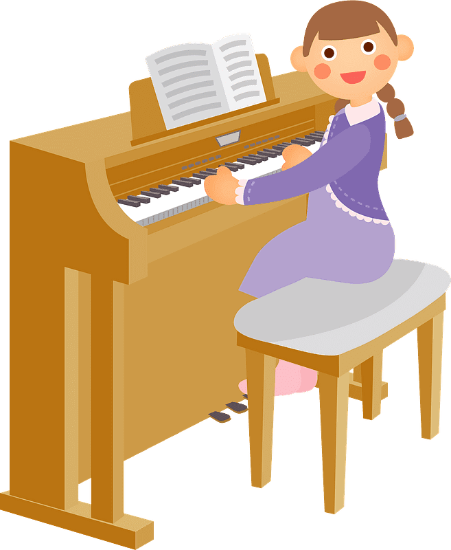 Playing Piano clipart transparent 2