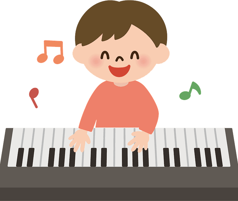 Playing Piano clipart transparent 3
