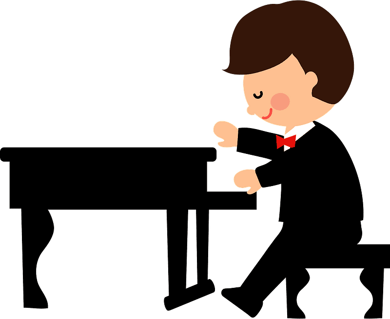 Playing Piano clipart transparent 4