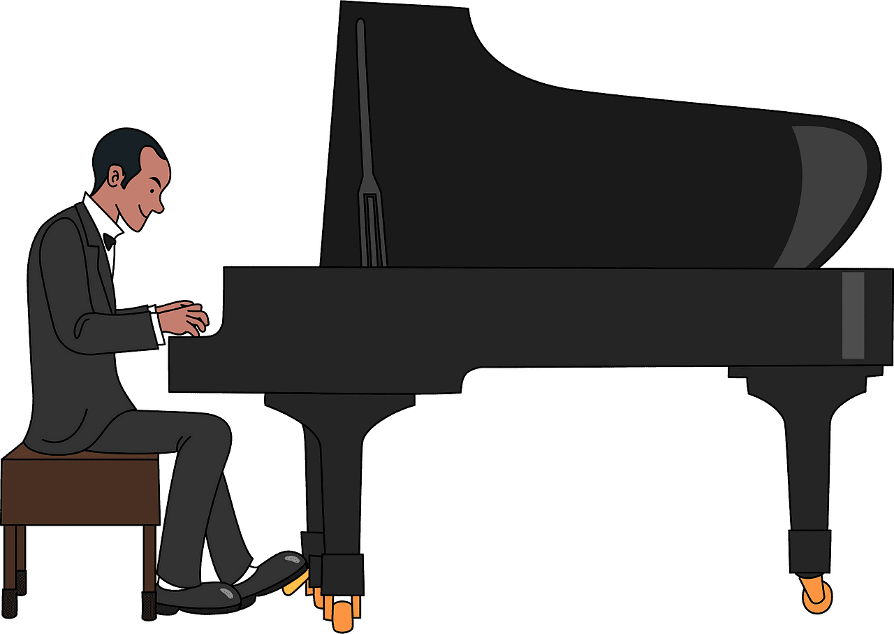 Playing Piano clipart transparent