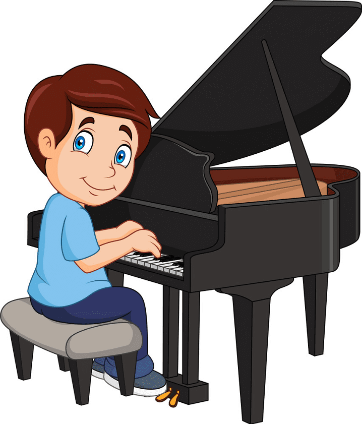 Playing Piano clipart
