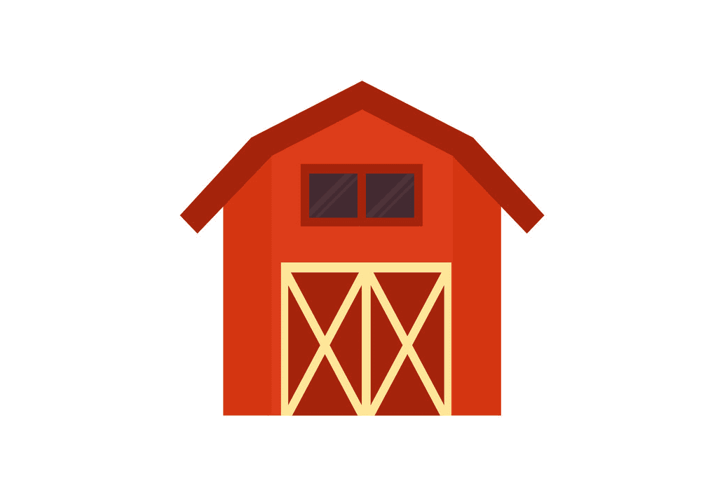 Red Barn clipart free image
