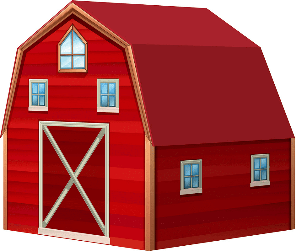 Red Barn clipart free images
