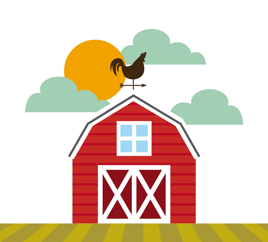 Red Barn clipart free