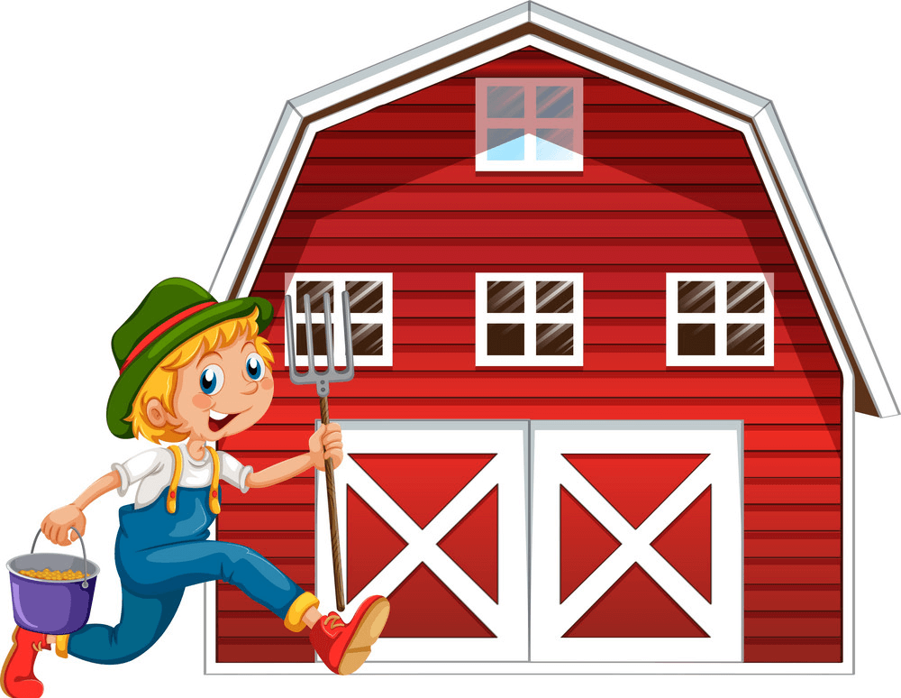 Red Barn clipart image