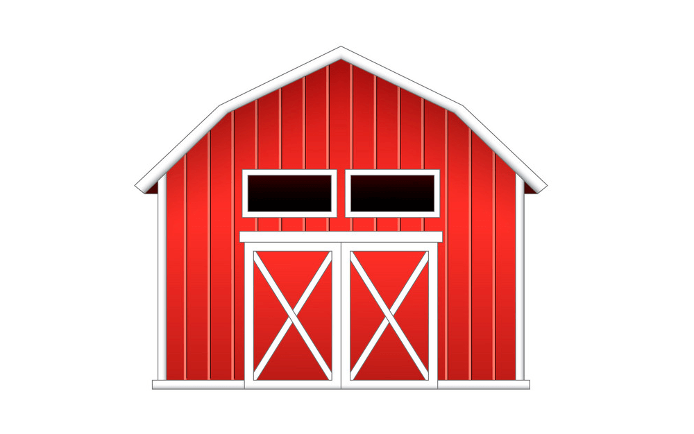 Red Barn clipart png free