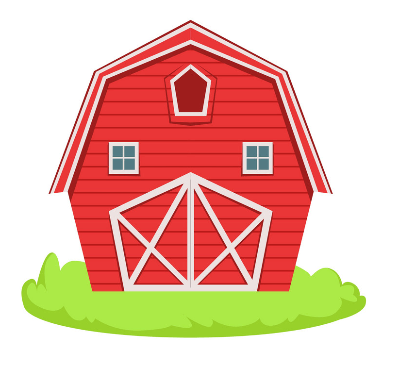 Red Barn clipart png image