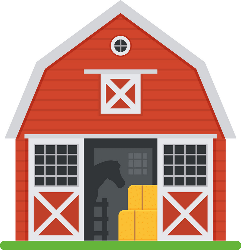 Red Barn clipart png
