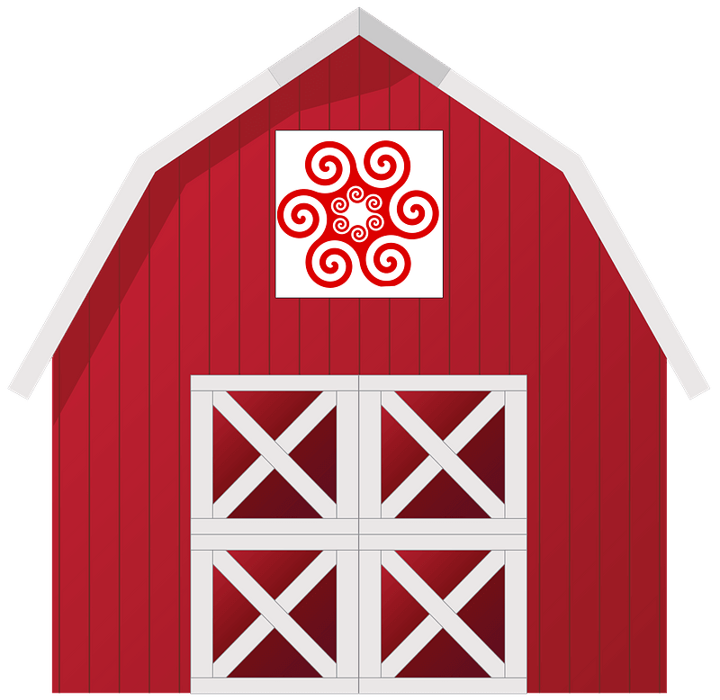 Red Barn clipart transparent