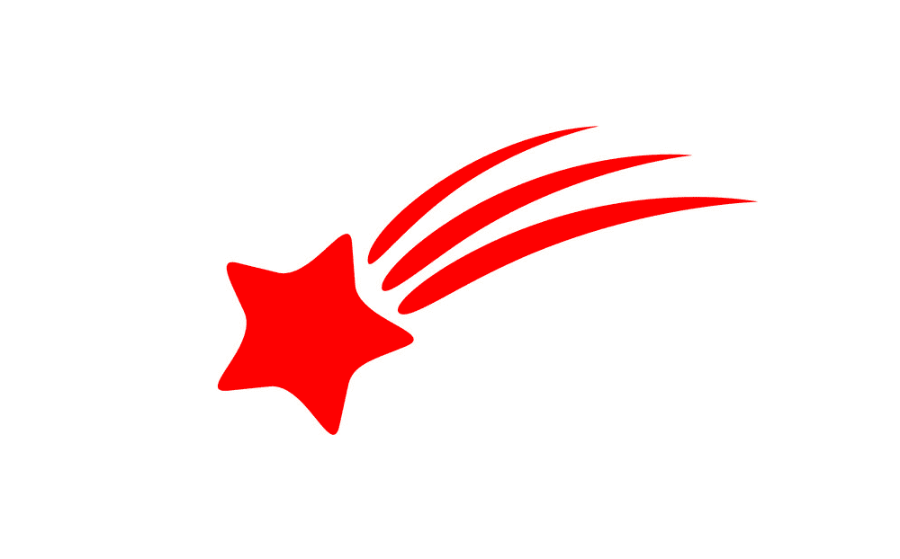 Red Shooting Star clipart
