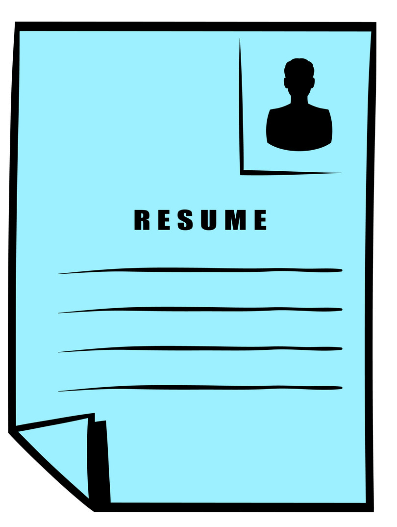 Resume clipart image