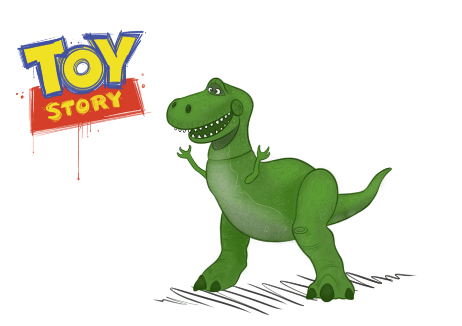 Rex Toy Story clipart free image