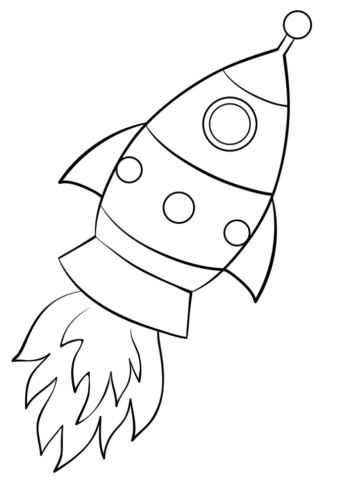Rocket Black and White clipart free images