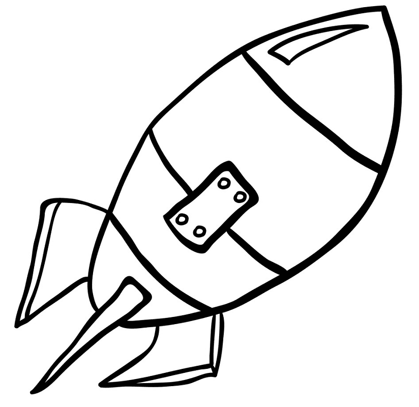 Rocket Black and White clipart png images