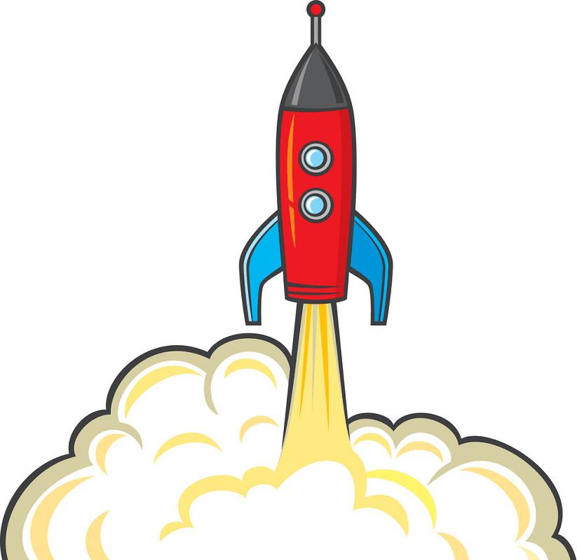 Rocket Launch clipart free