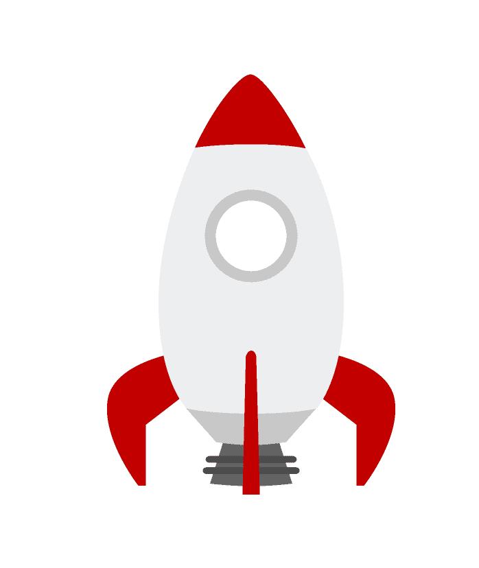 Rocket clipart 2