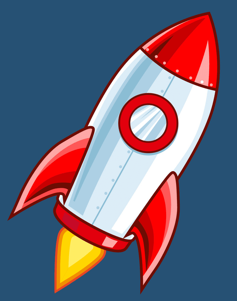 Rocket clipart free 1